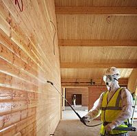 нанесение антипирена на древесину